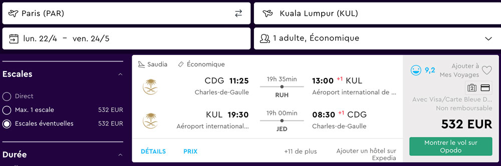 Paris Kuala Lumpur billet avion pas cher