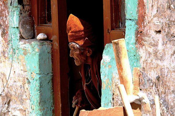 Vieille femme au Laddakh