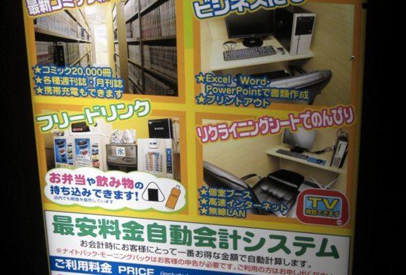 Les options possibles en manga café