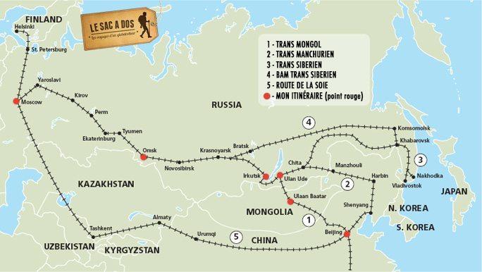 Voyage en train transsiberien
