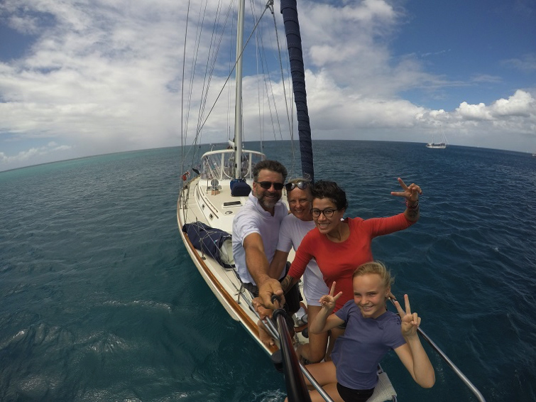 Voyage en bateau-stop