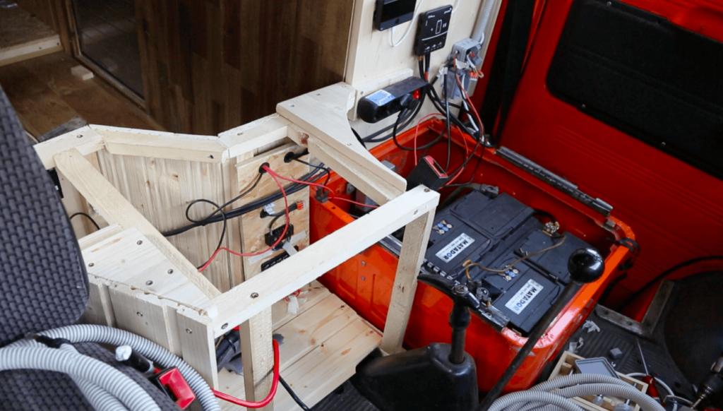 Installation electrique aménager fourgon