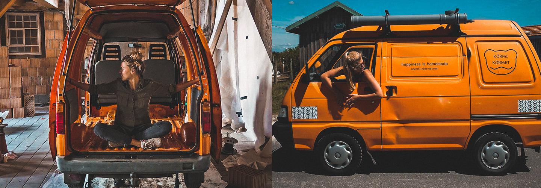Minivan Piaggio Porter: Kerstin a amanégé son mini van et