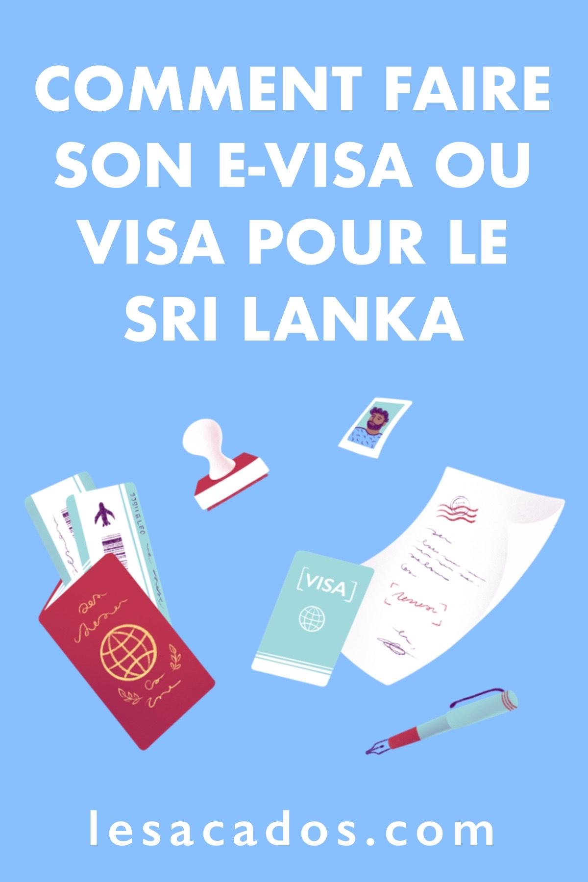 Guide étape par étape : Dans cet article j'explique comment faire son visa ou evisa (ETA) pour le Sri Lanka seul, ou en passant par une agence.