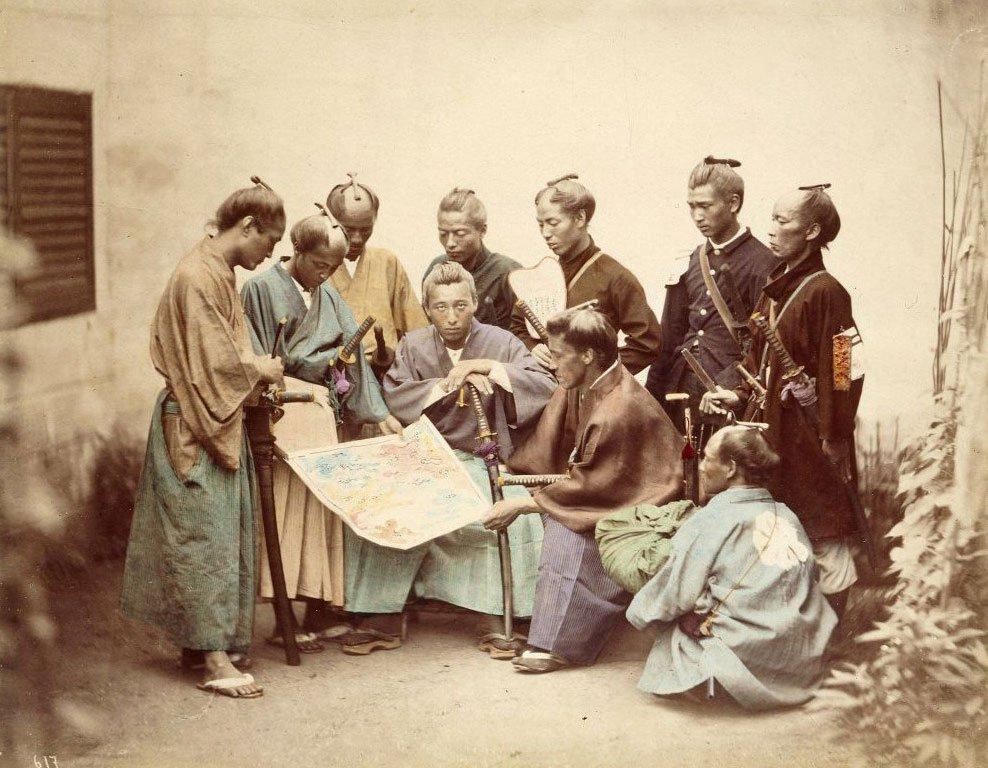 Groupe de samuraïs