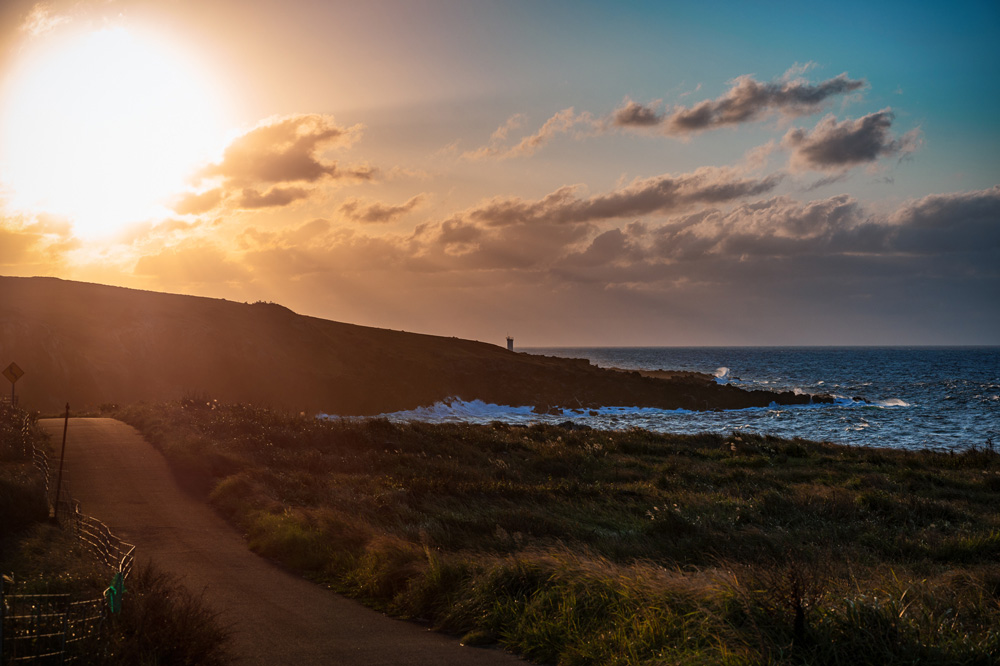 Ojika Island coucher de soleil