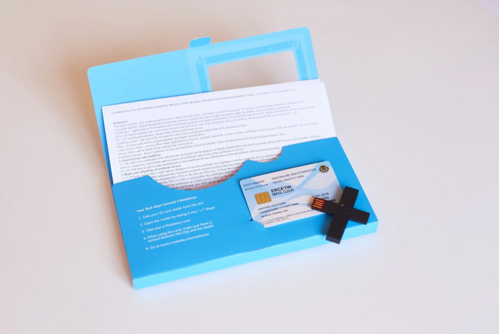 Carte e-reisdent Estonie